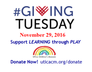 Giving Tuesday 2016  Support Learning through Play!